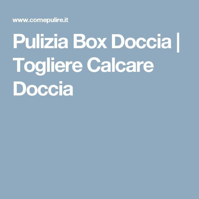 Pulizia Box Doccia | Togliere Calcare Doccia