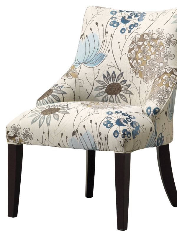 Make a stylish statement and catch the eyes of your guests, by adding a patterned #accent #chair to your living room. #HomeFurniture