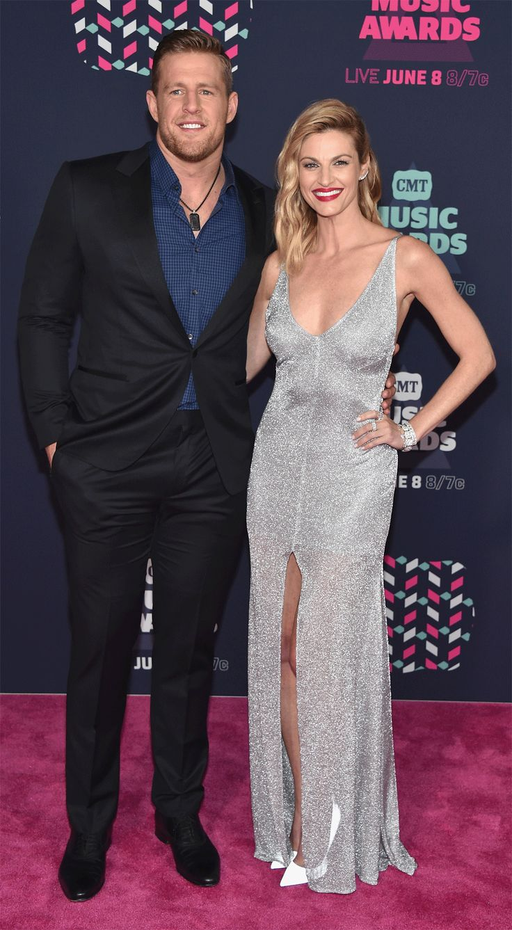 PHOTOS: The Hottest Looks from the 2016 CMT Music Awards Red Carpet - J.J. Watt and Erin Andrews from InStyle.com