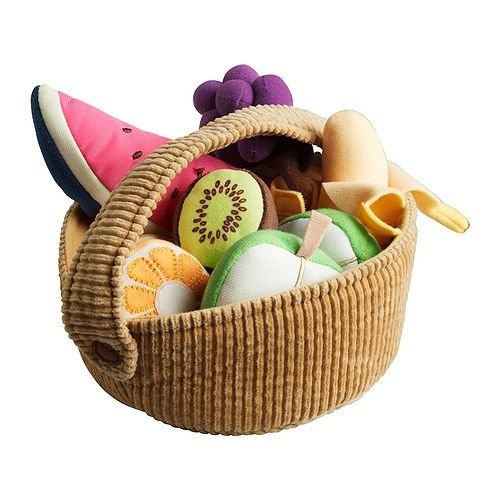 Ikea fruit basket plush! This is also how I intend to teach my daughter to love the farmer's market. $7.99