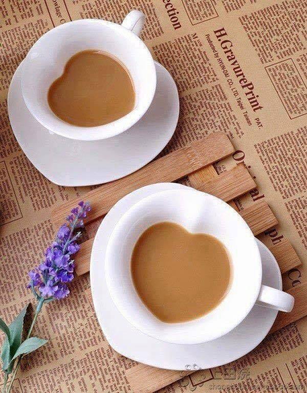 Love Shaped Coffee Cups  Love Coffee. ❤☕