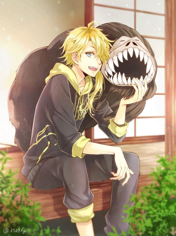 kawaii blonde hair anime