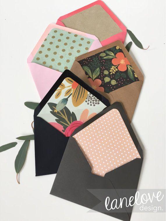 Doublé européen fait Flap enveloppes en papier, personnalisé choisissez couleur, impression et enveloppes de taille