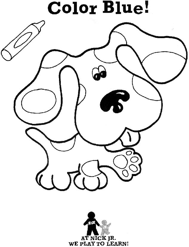 25 best images about blues clues on pinterest shops for Blues clues magenta coloring pages