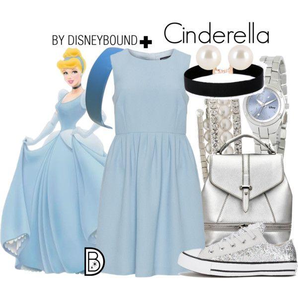 Cinderella + by leslieakay on Polyvore featuring Manon Baptiste, Converse, Disney, Vieste Rosa, Henri Bendel, disney, disneybound and plussize