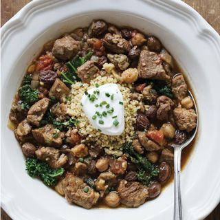 This slow-cooked lamb stew gets a Moroccan flavor from cumin, coriander, cinnamon, cayenne, ginger and garlic. Serve with couscous and a dollop of Greek yogurt, or enjoy on its own.