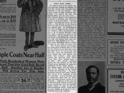St. Joseph, Missouri and area news in Troy, Kansas news on Dec 19, 1914 on page 8