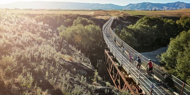 The Otago Rail Trail allows you to fully immerse yourself in the area's beautiful landscape. Photo / Supplied