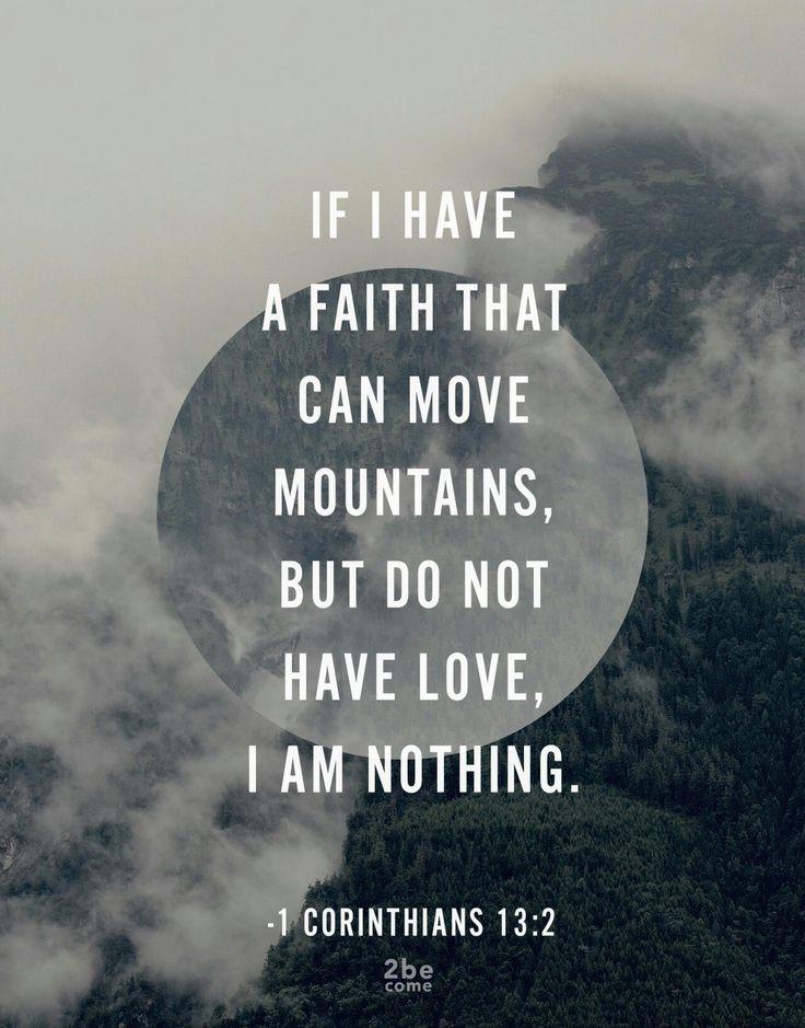 1 Corinthians 13:2                                                                                                                                                      More