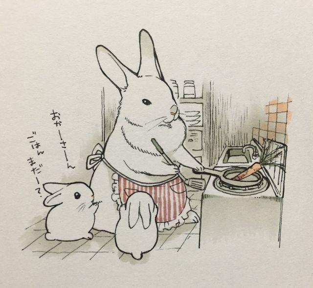 Почта, кролики смешные рисунки