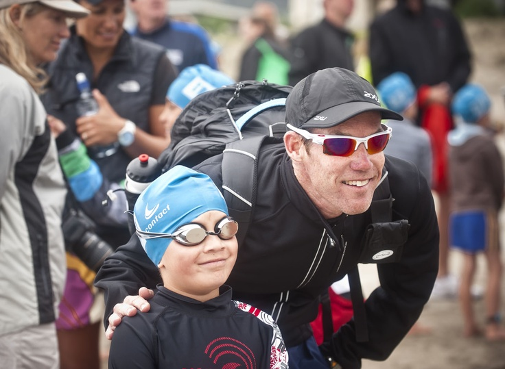 Ironman legend Cameron Brown was on hand to give some advice to his son