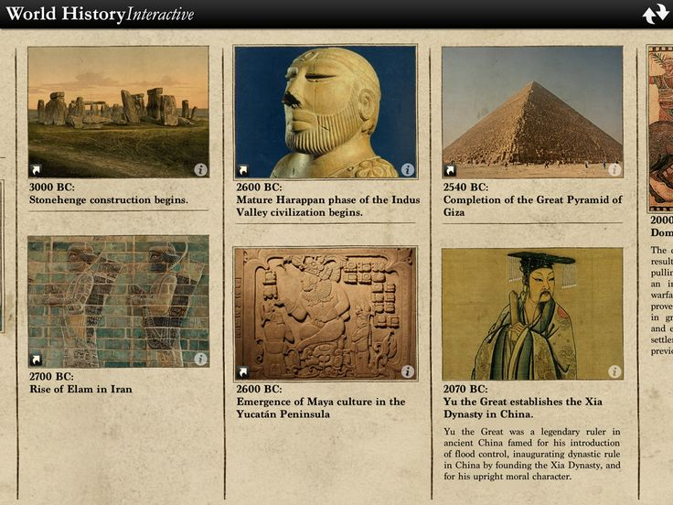World History Interactive Timeline For iPad & iPhone