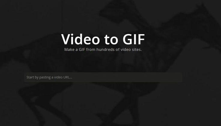 Video to GIF es una nueva utilidad web, lanzada por el popular sitio Imgur, para convertir vídeos en GIFs animados. Sólo tenemos que pegar la URL del vídeo.