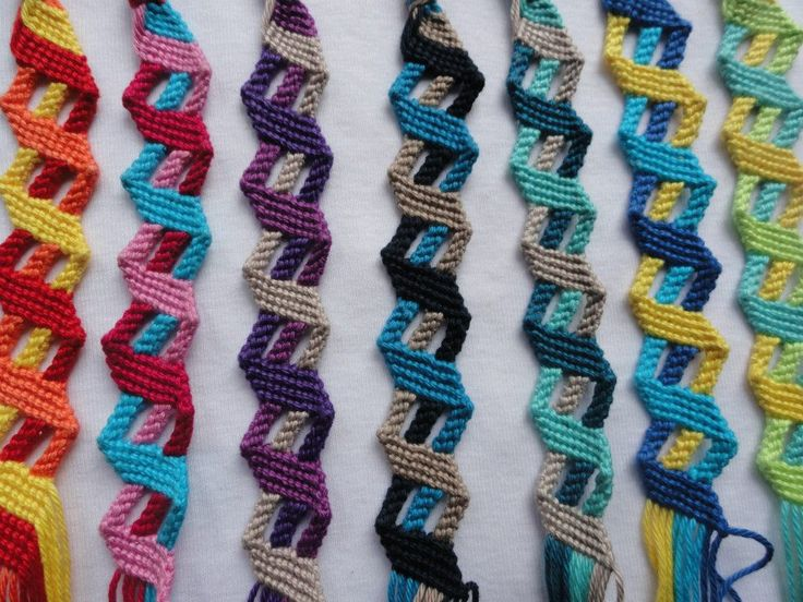 Zigzag friendship bracelets