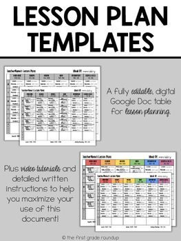 Want lesson plans that you can go completely digital with?  Check out these Lesson plan templates on Google Drive!
