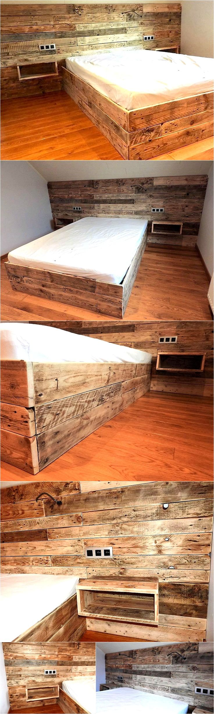 Well, I can counter this question with a number of very befitting reasons like whenever you think about having some rest, the very first thing that comes to your mind is a room bed. We all literally love the wooden room beds. But one scary angle was their sky high prices. But this matter is completely countered with wooden pallets.