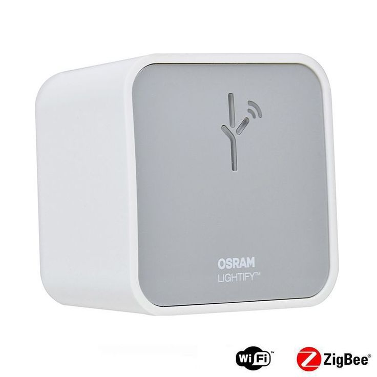 Osram 73692 Lightify LED Wireless Gateway with ZigBee Compatibility White Smart Home Hubs and Controllers Standard Hub Zigbee Hub