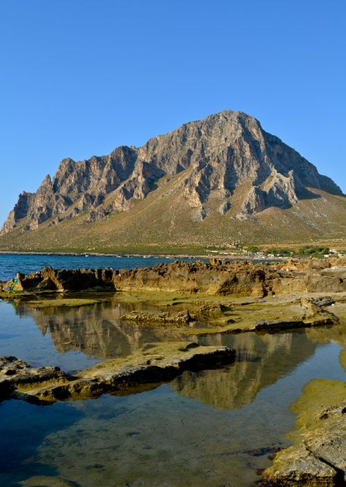 #Cofano #mountain is a perfect destination for a #trekking in #Sicily with a low difficulty level. In the north coastline of #Trapani, it's a huge mountain of 700 metres that stands out in the #sea water, there is a very suggestive view. If you prefer there is also a #beach near :) For more information have a look at bebtrapanilveliero.it