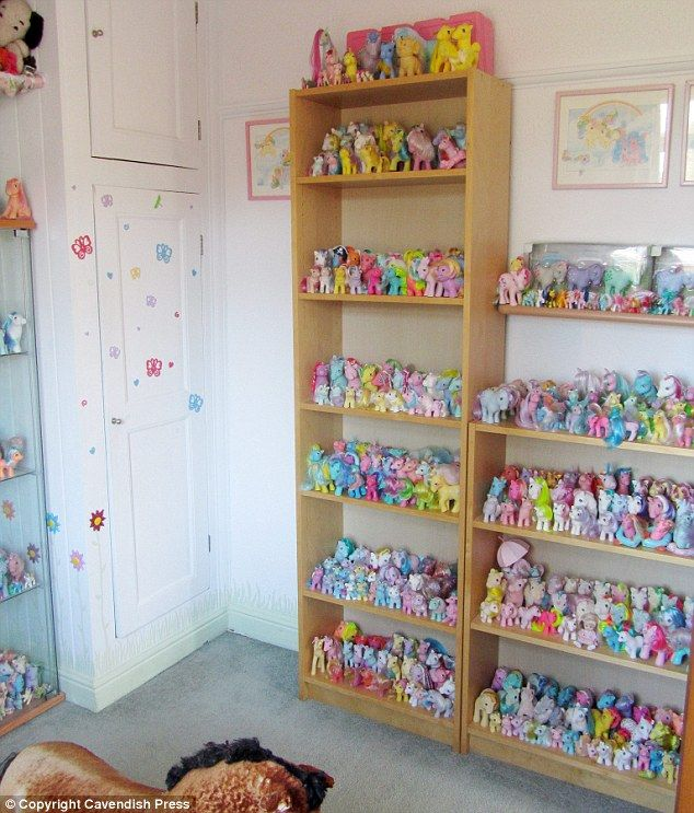 Pile o' ponies: Sarah Butler has racked up a collection of more than 1,000 My Little Pony toys worth a staggering £20,000!   And we thought we were big fans!