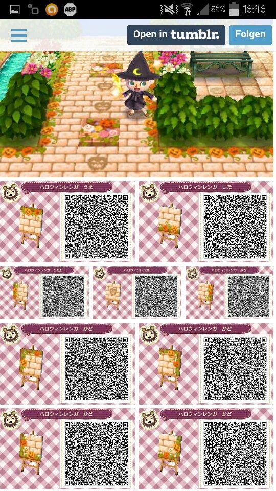 Sol Automne Halloween Qr Code Animal Crossing Qr Code