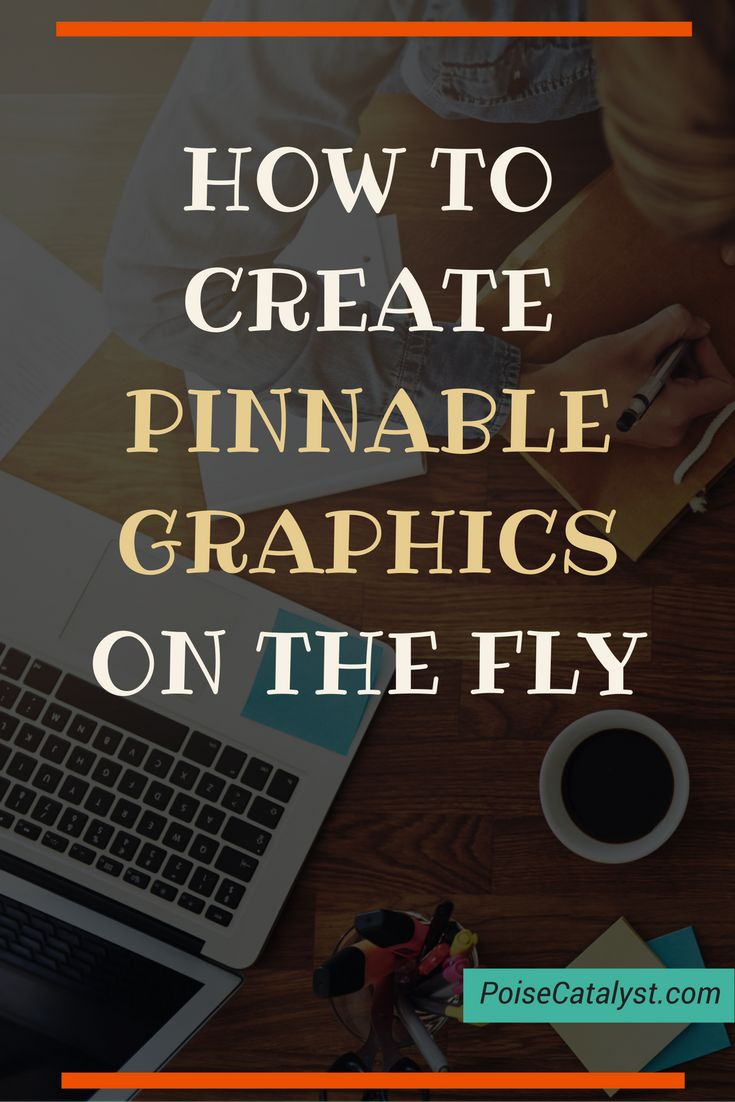 Here's a sweet tutorial from Kimberly on how to create pinnable graphics on the fly!