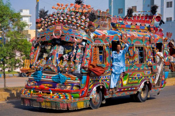 Decorated Trucks Of Pakistan Google Search Bus Indian Bus
