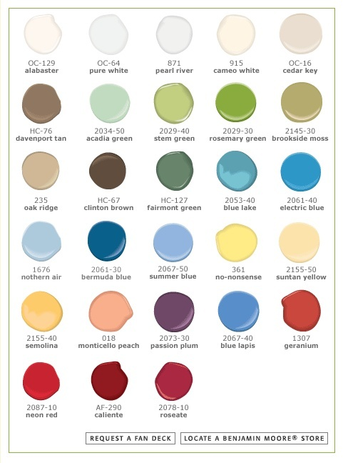 -Benjamin Moore carries a line of Pottery Barn paint colors for the home