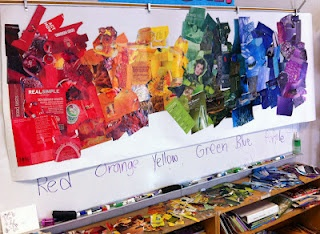 19 best collage project ideas images on pinterest art for Color collage ideas