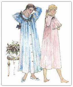 A Nightgown Pattern that I would love to make!!  It has smocking on the yoke.