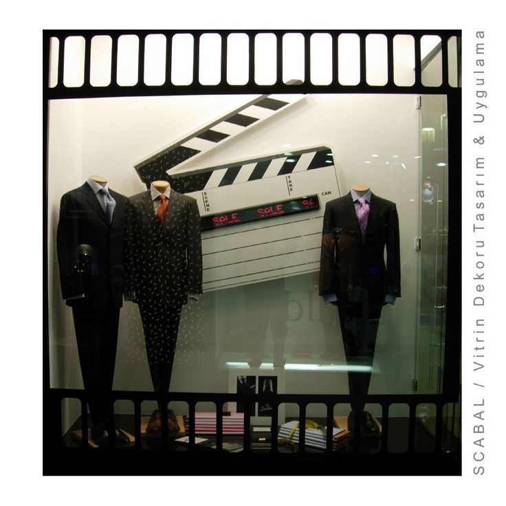 Scabal Display Window/Designed by Cem İnci These suits were used in Casino, Titanic and The Untouchables movies.