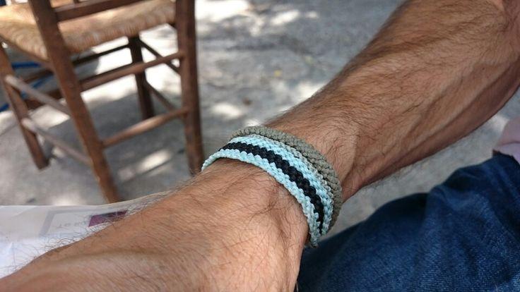 Macrame bracelet for him! Summer in Greece!