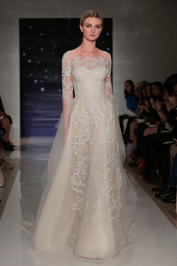 Reem Acra - Spring summer 2016 bridal shows in New York | Best wedding dresses from Marchesa, Oscar de la Renta, Carolina Herrera | Harper's Bazaar