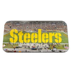 Pittsburgh Steelers License Plate - Crystal Mirror - Stadium