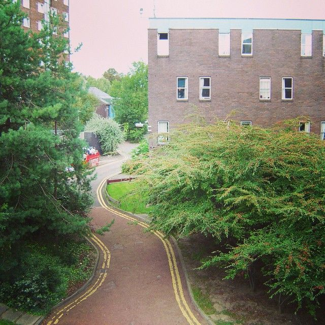 #tbt To my view from the window of Lovaine Hall, Flat 26, Room 7. It wasn't much, but it's comforting for me to see again. #Newcastle #MissingEngland