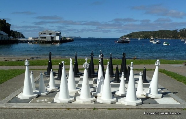 View from Oban's shore to the wharf. - Stewart Island