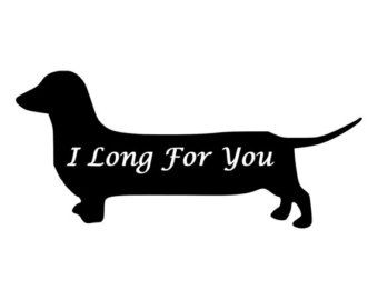 Dachshund Infinity With Paw Prints Die-Cut by BeeMountainGraphics