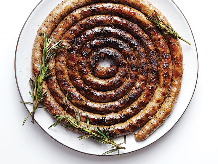 """Lovage adds a mysterious """"celery mixed with Middle Eastern spice"""" quality to this otherwise classic sausage, helping to cut through the juicy, fatty links."""