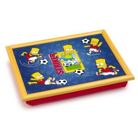 The Simpsons Padded Lap Tray Laptray - Bart Striker: Amazon.co.uk: Kitchen & Home