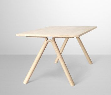 Split Table by Staffan Holm (solid ash, solid oak)