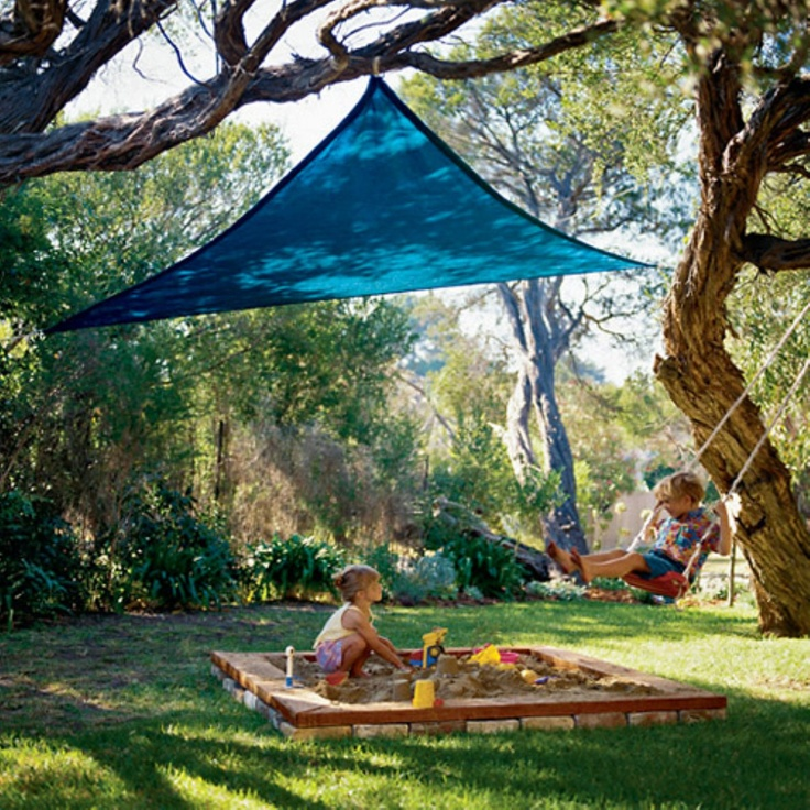 Transform your sunny backyard into a more enjoyable outdoor space with a Party Shade Sail $40
