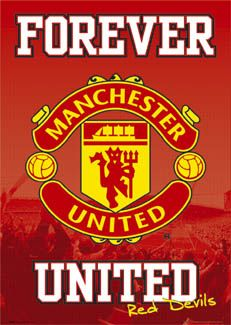 Manchester United FC FOREVER Shield Logo Crest Poster - Manchester United Football ~Available at www.sportsposterwarehouse.com
