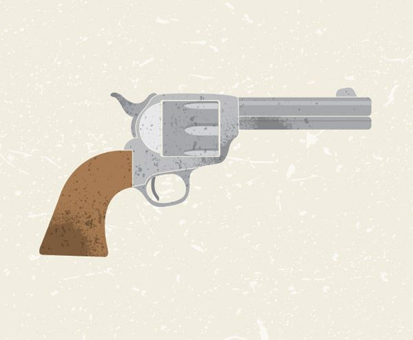 How to Create a Textured Vector Revolver using Adobe Illustrator