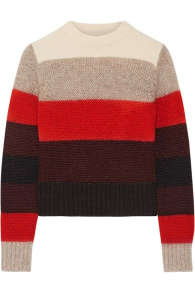 Rag & bone | Britton striped knitted sweater | NET-A-PORTER.COM