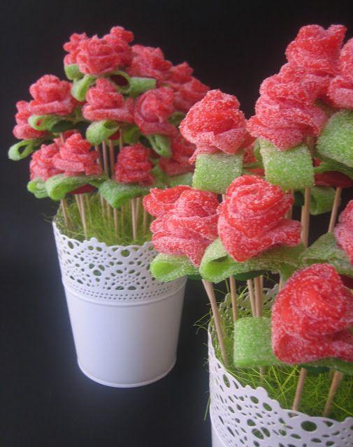 unas rosas... comestibles!!   lilaygris