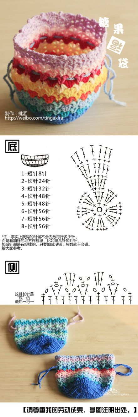 crochet bag | Chinese (?) language, chart included