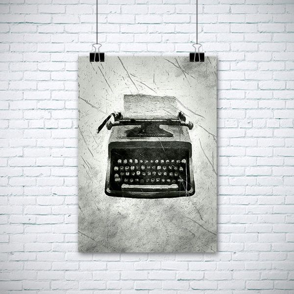 Plakat. Maszyna do pisania w  EnchantedCrayons na DaWanda.com