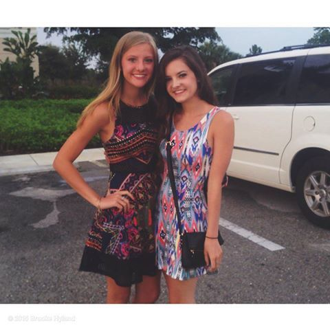 Gorgeous sisters Paige & Brooke Hyland in Ft. Myers, Florida in June 2015.
