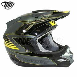 2014 Thh Tx23 Velocity Motocross Helmet - Grey Black Yellow - 2014 Thh Motocross Helmets - 2013 Motocross Gear - by Thh Helmets