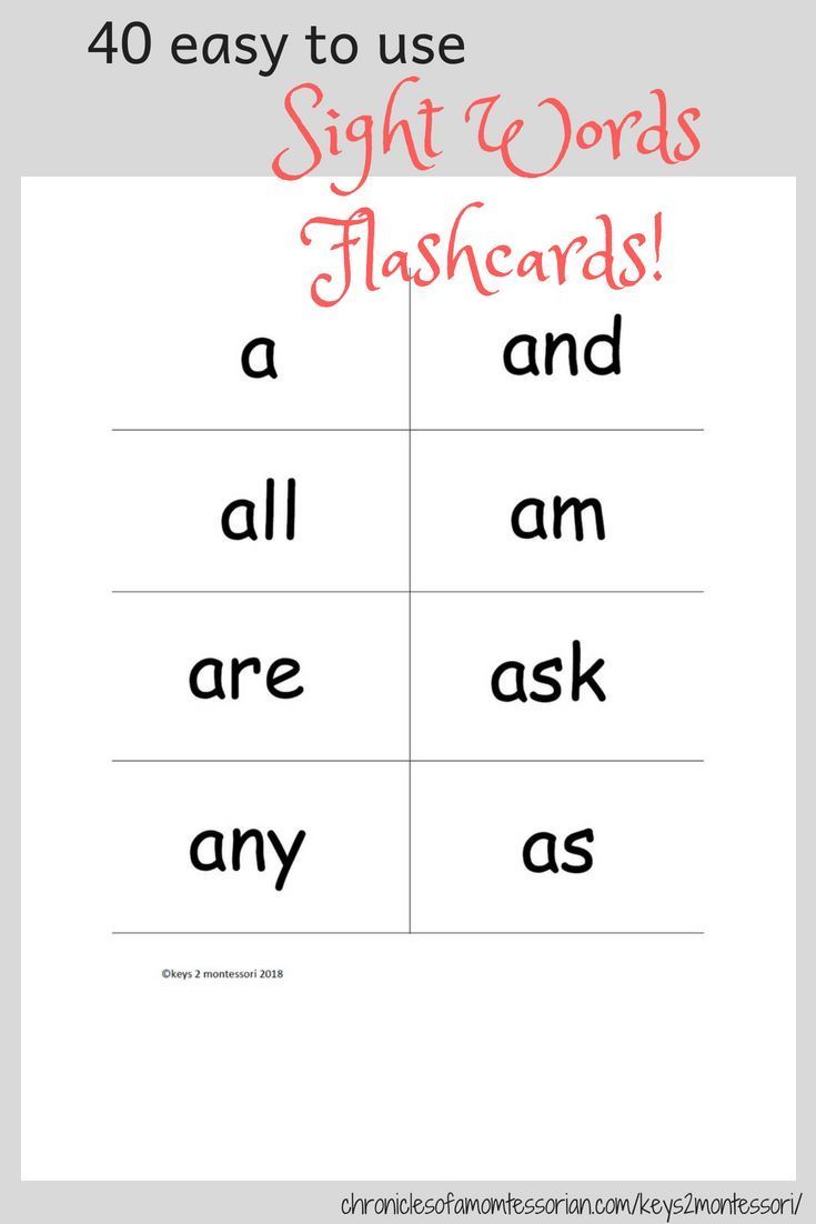40 Sight words flashcards  #sightwords #flashcards #reading