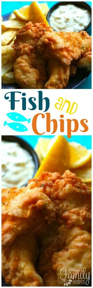 These Fish and Chips are crispy, flavorful and delicious. The real deal! Pair them with tartar sauce or malt vinegar. Rivals any restaurant! via @favfamilyrecipz